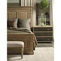 Bernhardt Antiquarian Queen Panel Bed with Crown Molding