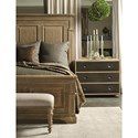Bernhardt Antiquarian California King Panel Bed with Crown Molding