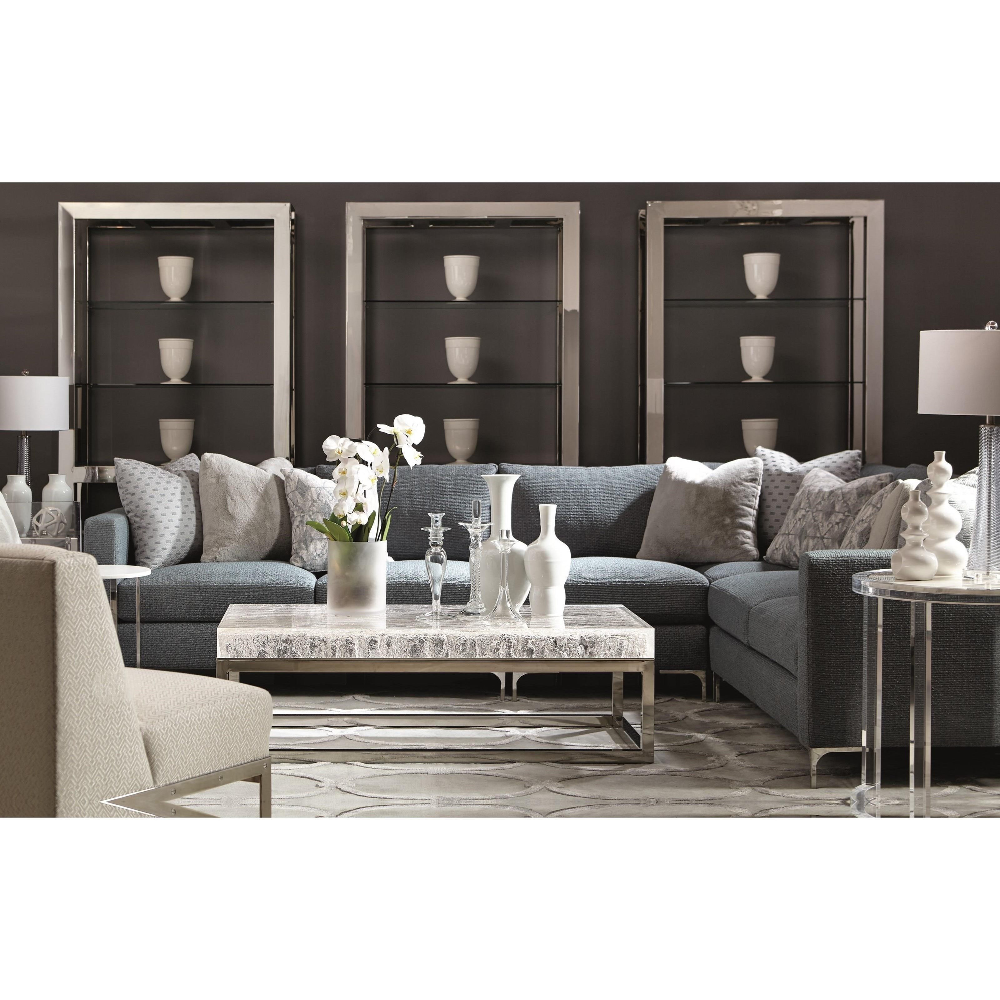 Solid Stainless Steel Coffee Table: Bernhardt Arctic Solid Acrylic Top Cocktail Table With