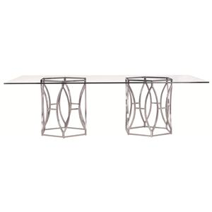 Bernhardt Argent  Argent Rectangular Dining Table