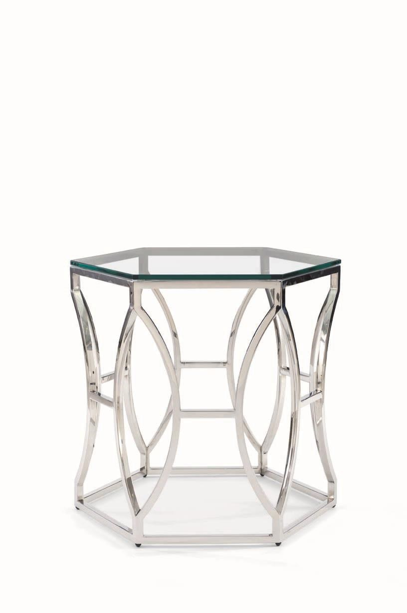 Bernhardt Argent Argent Glass Side Table - Item Number: 621839792