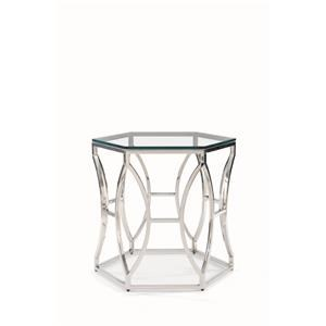 Bernhardt Argent Argent Glass Side Table