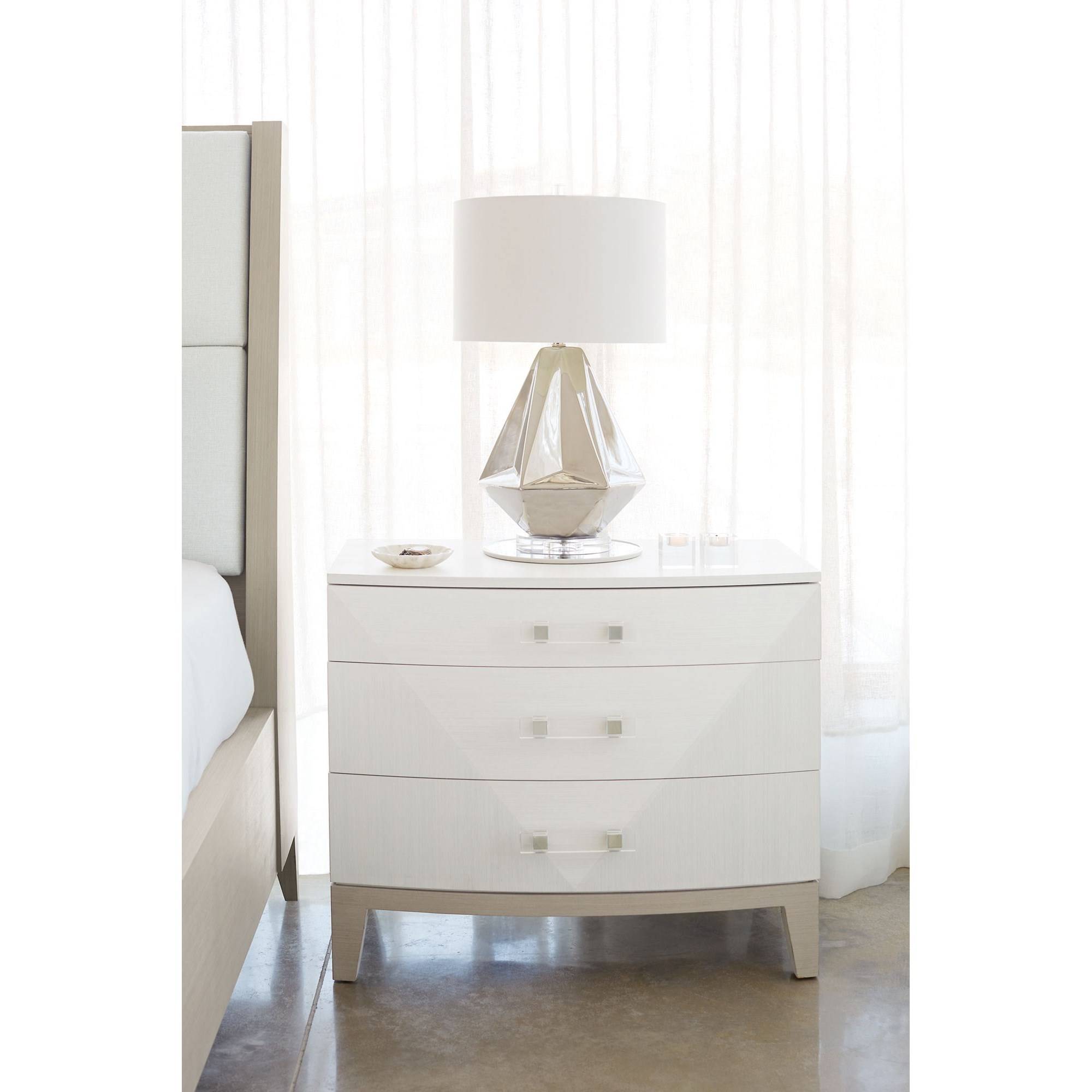 Bernhardt Axiom 381 229 Contemporary Nightstand With 3