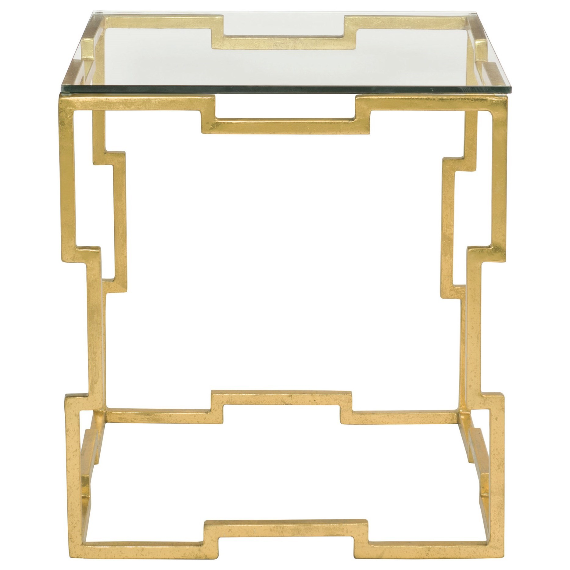 Bernhardt Bancroft Rectangular End Table With Glass Top And Metal Base Reeds Furniture End