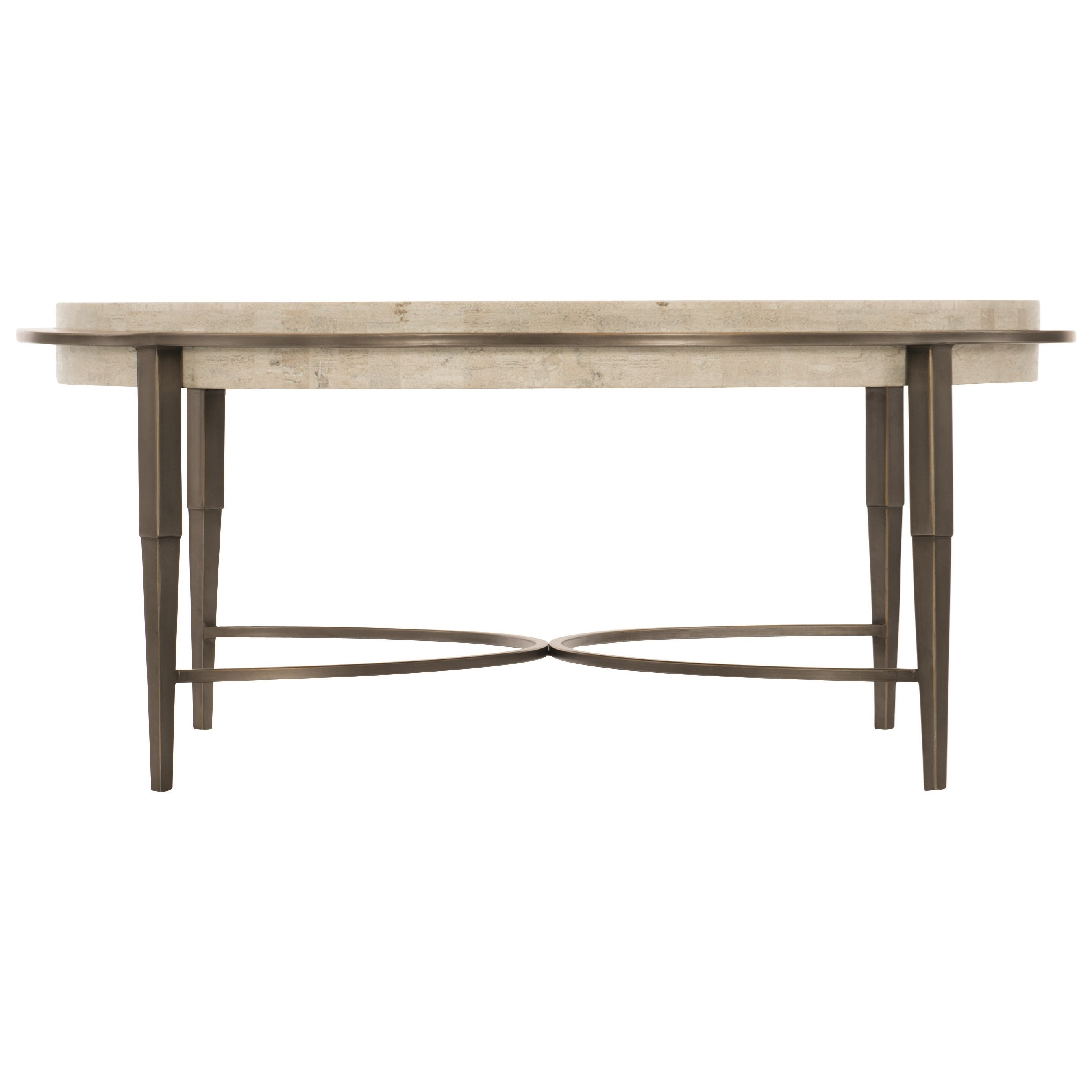 Barclay Metal Round Cocktail Table by Bernhardt at Darvin Furniture