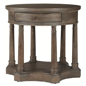 Bernhardt Belgian Oak Round Chairside Table