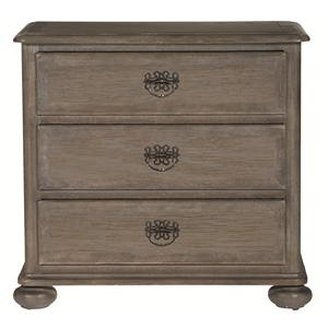 Bernhardt Belgian Oak 3 Drawer Nightstand