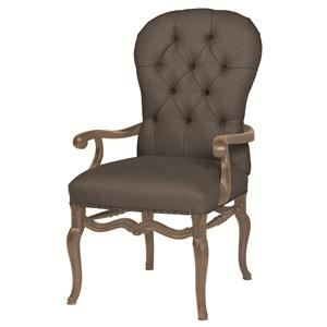 Bernhardt Belgian Oak Upholstered Arm Chair