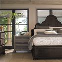 Bernhardt Belgian Oak High End Master Bedroom Queen Size Panel Bed with Traditional Elegant Style - Shown with Coordinating Collection Nightstand and Dresser. Bed Shown May Not Represent Size Indicated.