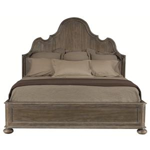Bernhardt Belgian Oak Queen Size Panel Bed
