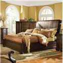 Bernhardt Belmont 2 Door Master Chest - Shown with King Leather Sleigh Bed