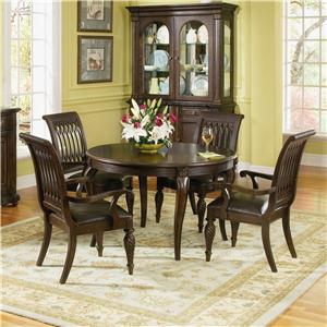 Bernhardt Belmont Round Table and 4 Chair Dining Set