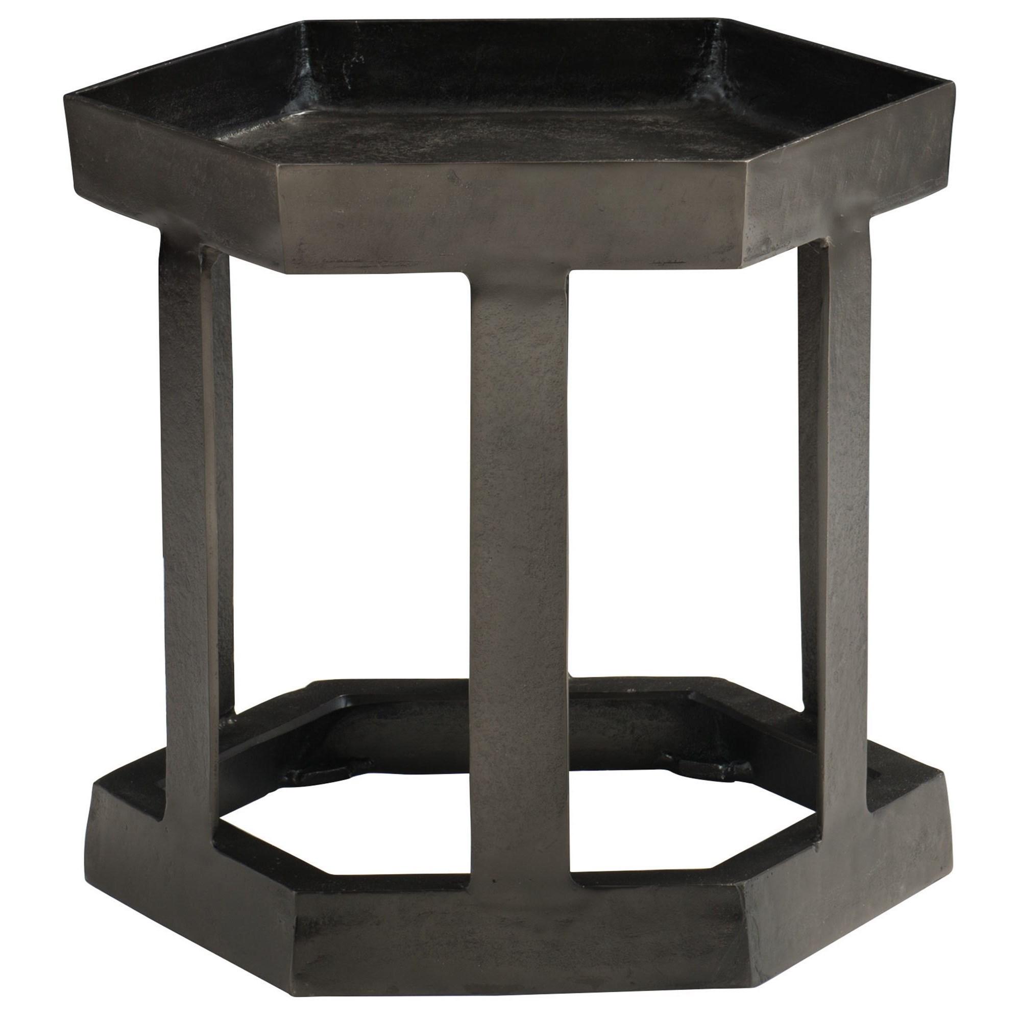Hexagon Chairside Table