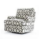 Bernhardt Signature Seating Customizable Swivel Chair with Rolled Arms