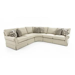 Bernhardt Signature Seating 4 Pc Sectional Sofa