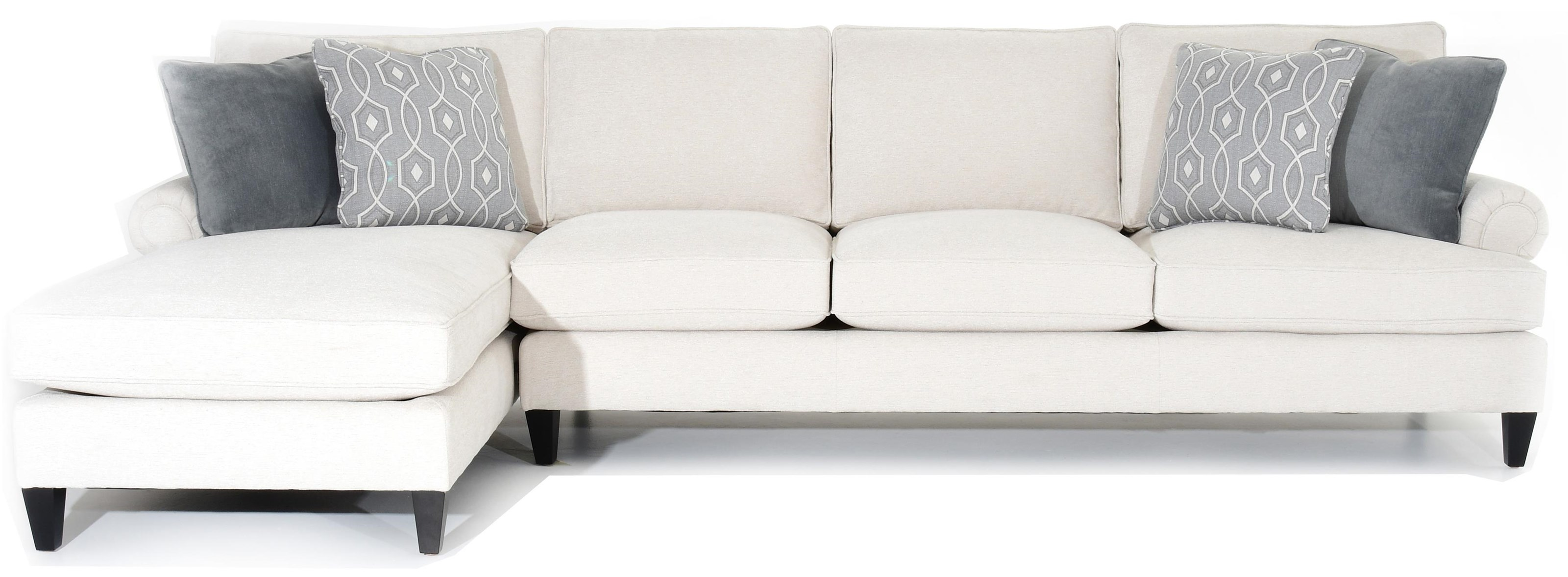 Signature Seating Customizable Sofa with Chaise by Bernhardt at Baer's Furniture