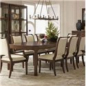 Bernhardt Beverly Glen Dining Table with Fluted Legs