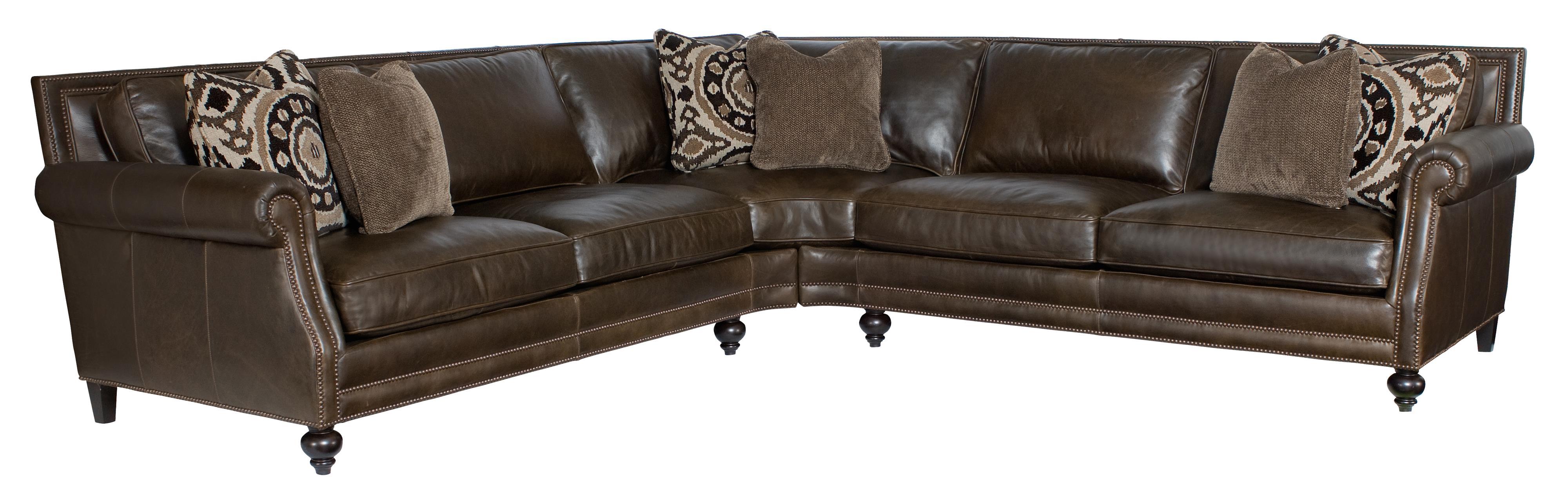 Bernhardt Brae  Sectional Sofa - Item Number: 6892L+6891L-Walnut