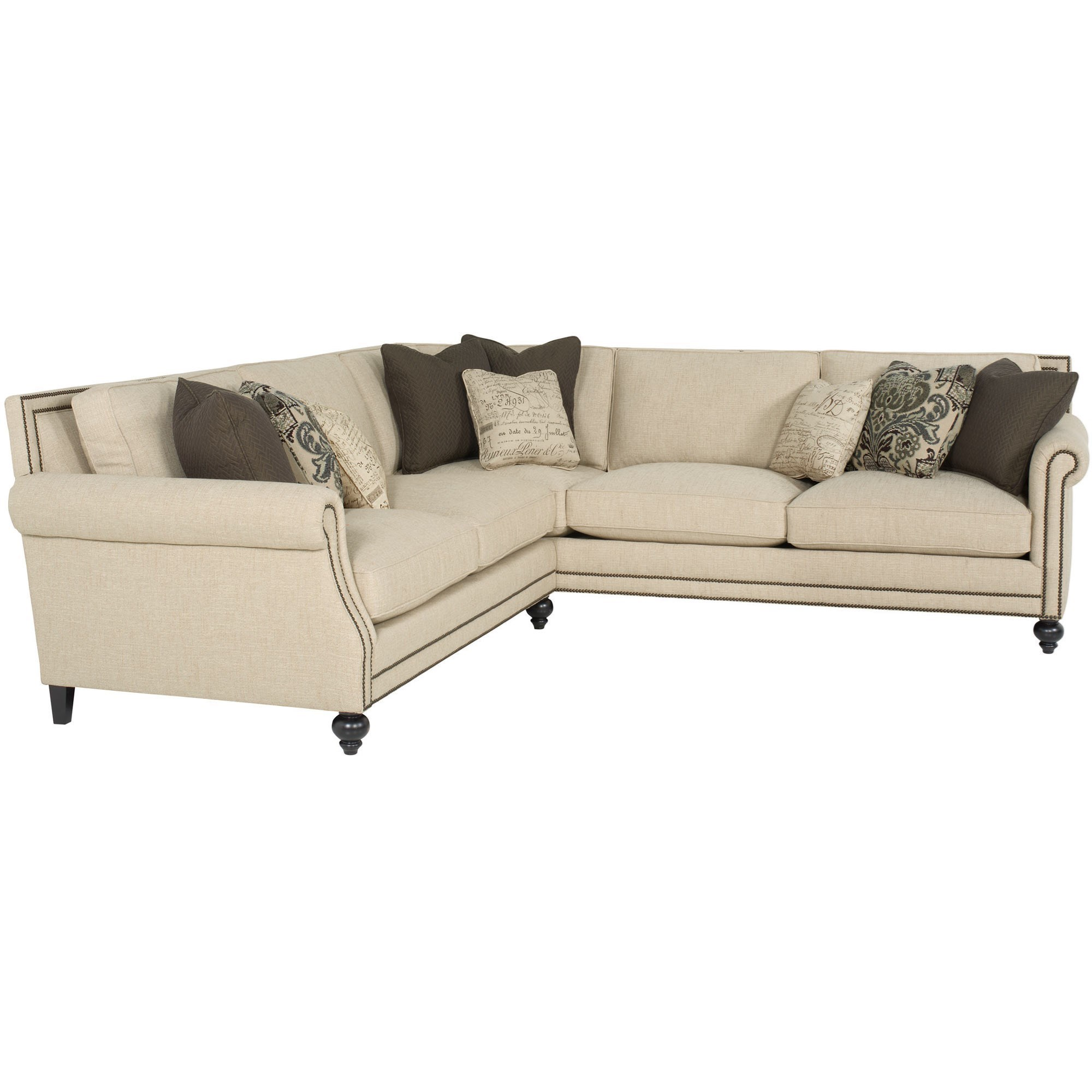 Bernhardt Brae Five Seat Sectional Sofa with Transitional ...