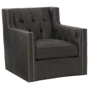 Footless Chair with Nailhead Trim