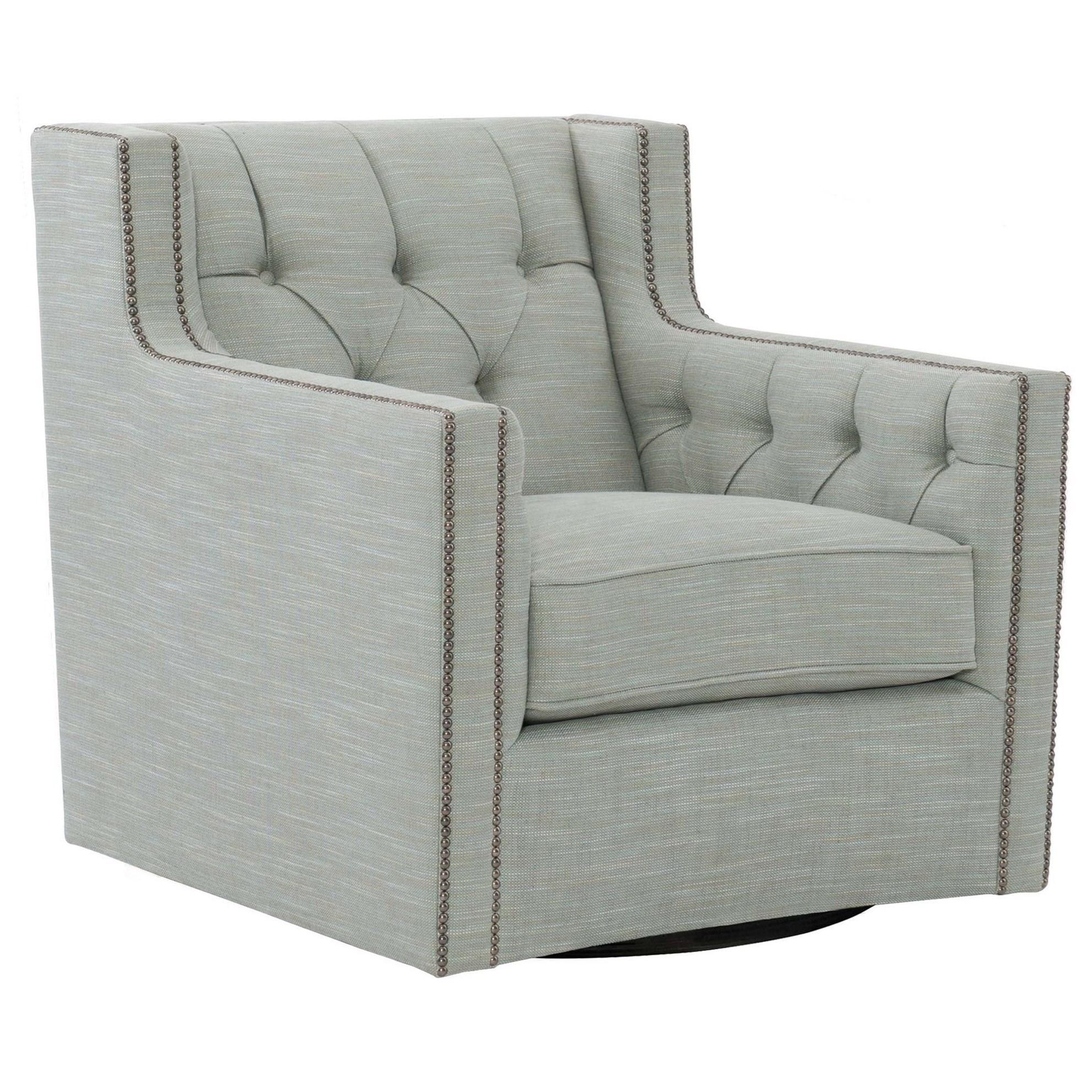 Swivel Chair with Nail Head Trim