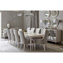 Bernhardt Calista 11 Piece Table and Chair Set - Item Number: 388-222+2x548+8x547