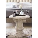 Bernhardt Campania Cast Crushed Stone Roman Chairside Table