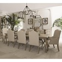 Bernhardt Campania 9 Piece Dining Set - Item Number: 370-222+2x548+6x547