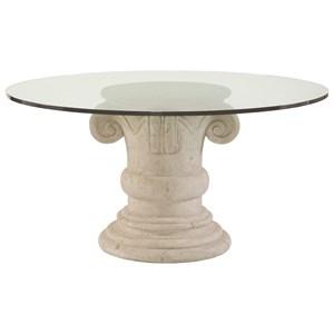 Bernhardt Campania Round Glass Top Dining Table