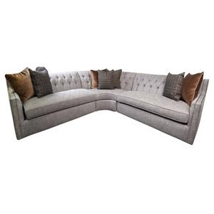 Candace Sectional Sofa with Accent Pillows