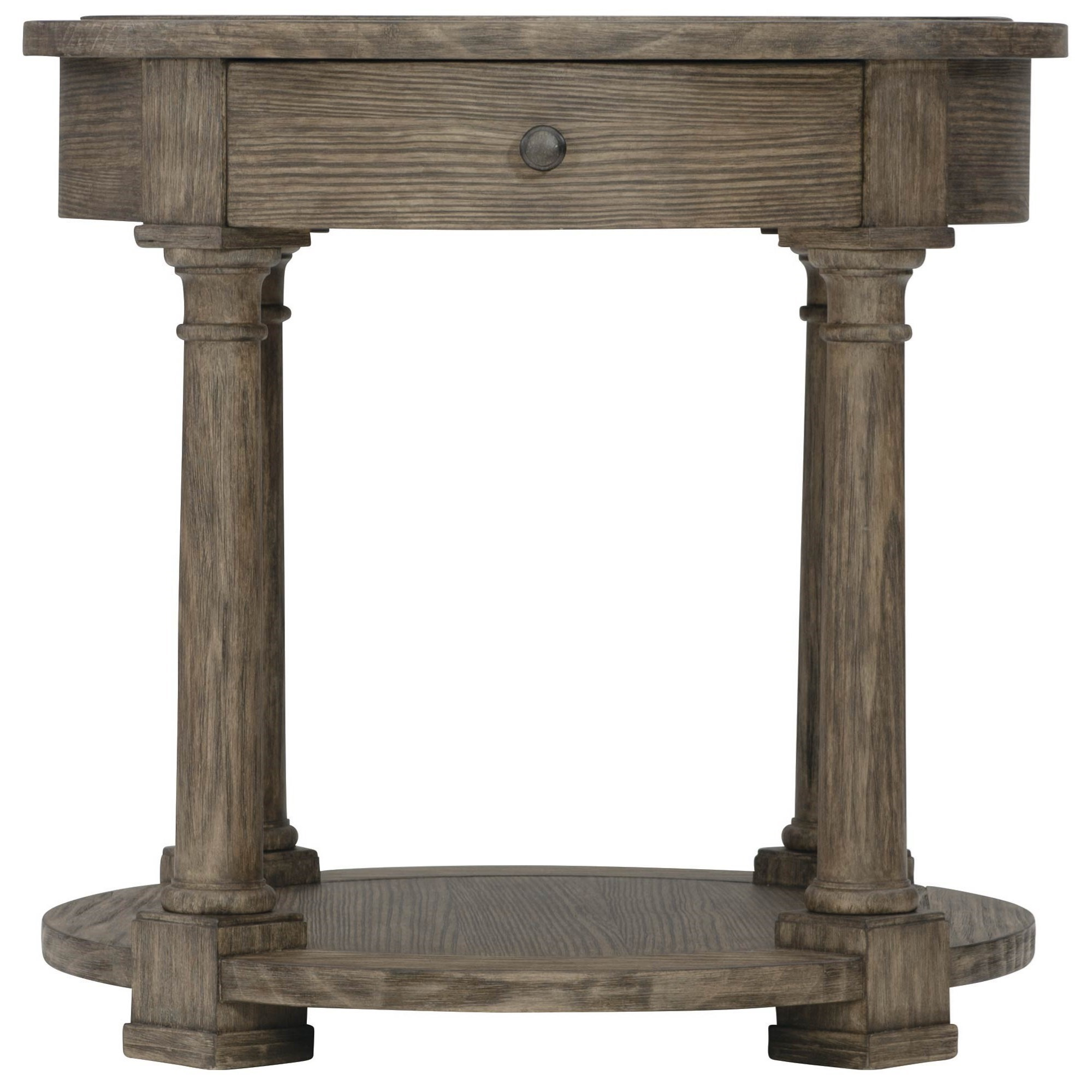 Canyon Ridge Round Side Table by Bernhardt at Darvin Furniture