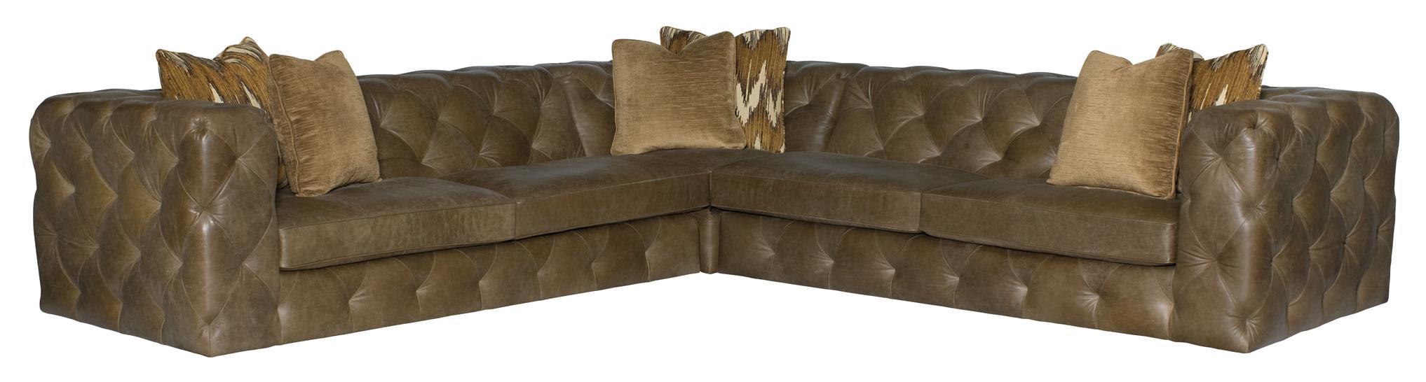 Bernhardt Chelsea Four Seat Sectional Sofa - Item Number: 5442L+5432L+5441L
