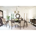 "Bernhardt Clarendon 104"" Dining Table and 6 Chair Set - Item Number: 377-222+2x548+4x541"
