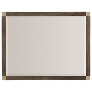 Bernhardt Clarendon Rectangular Mirror with Wood Frame