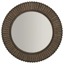 Bernhardt Clarendon Round Mirror with Ribbed Frame - Item Number: 377-333