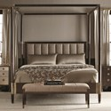 Bernhardt Clarendon King Canopy Bed with Upholstered Headboard - Item Number: 377-H59, 377-FR59