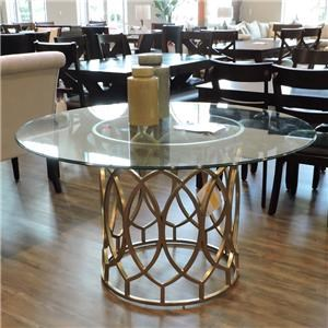 """Bernhardt Clearance 54"""" Round Glass Top Dining Table"""