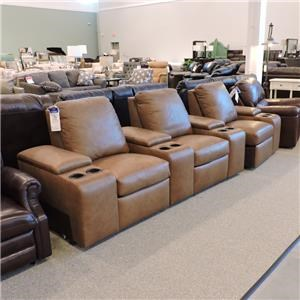 3 pc Leather Power Sectional
