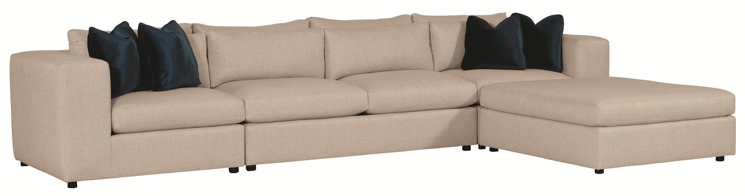 Bernhardt Como Contemporary Sectional Sofa with Modern ...