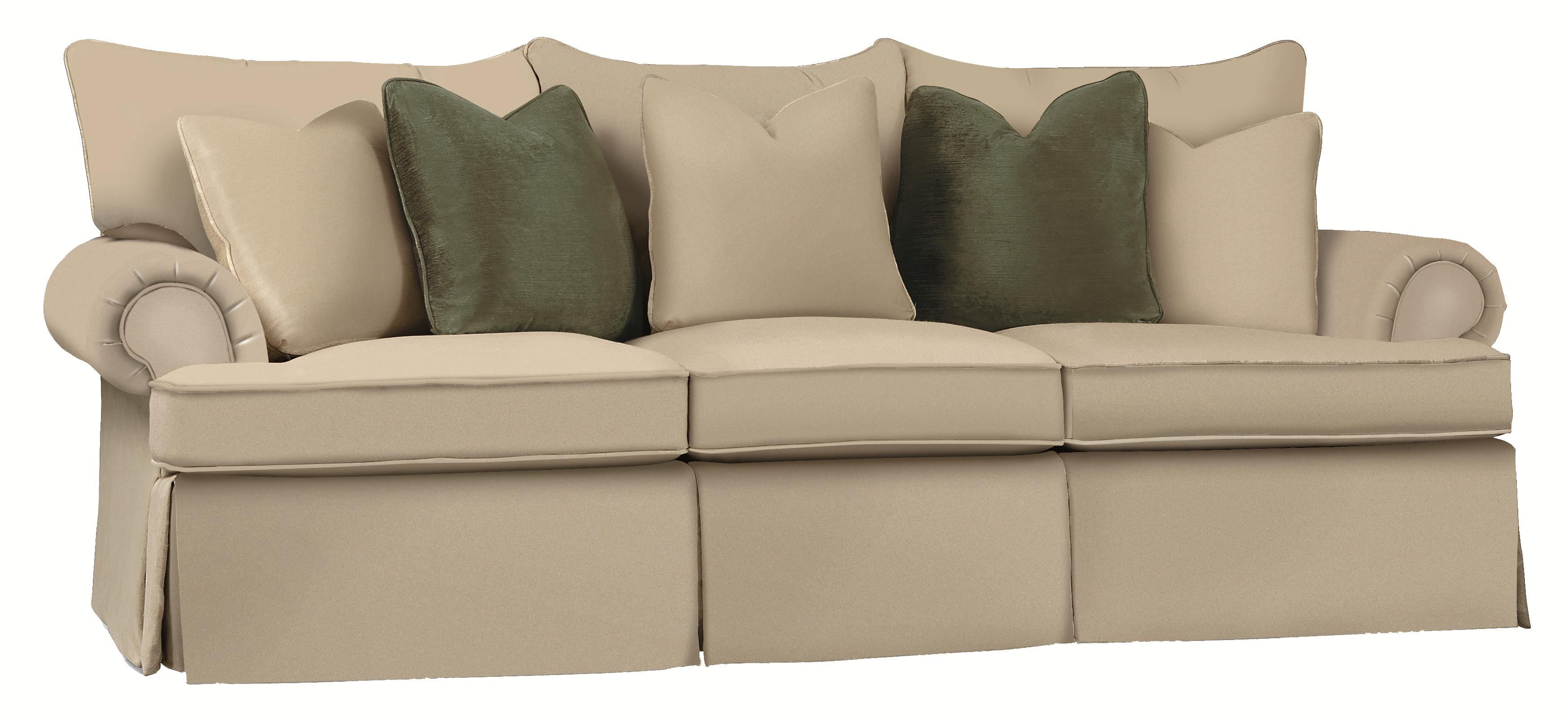 Bernhardt Danielle Standard Sized Stationary Sofa Couch