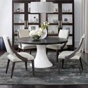 Bernhardt Decorage 5 Piece Table and Chair Set - Item Number: 380-272+273+4x561