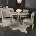 Bernhardt Domaine Blanc 5 Piece Dining Set - Item Number: 374-274-374-273+4x541