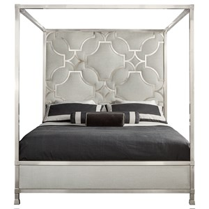 Upholstered Metal Canopy Bed