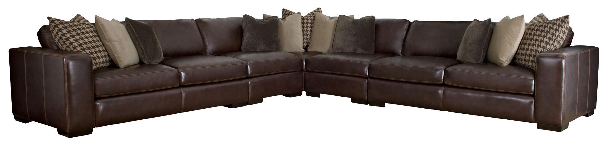 Bernhardt Dorian By Bernhardt Sectional Sofa   Item Number: 6942L+30L+32L+