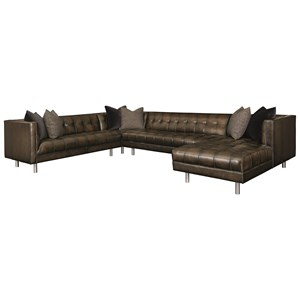 Bernhardt Dunhill Five Seat Sectional Sofa