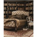 Bernhardt Eaton Square King Upholstered Sleigh Bed with Diamond Tufting