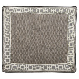 Accent Pillow with Square Box Border