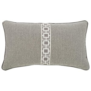Kidney Pillow with Center Tape & Welt