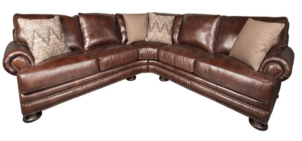 Bernhardt Foster Foster 2-Piece 100% Leather Sectional - Item Number: 117204374