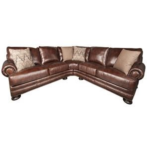 Bernhardt Foster Foster 2-Piece 100% Leather Sectional